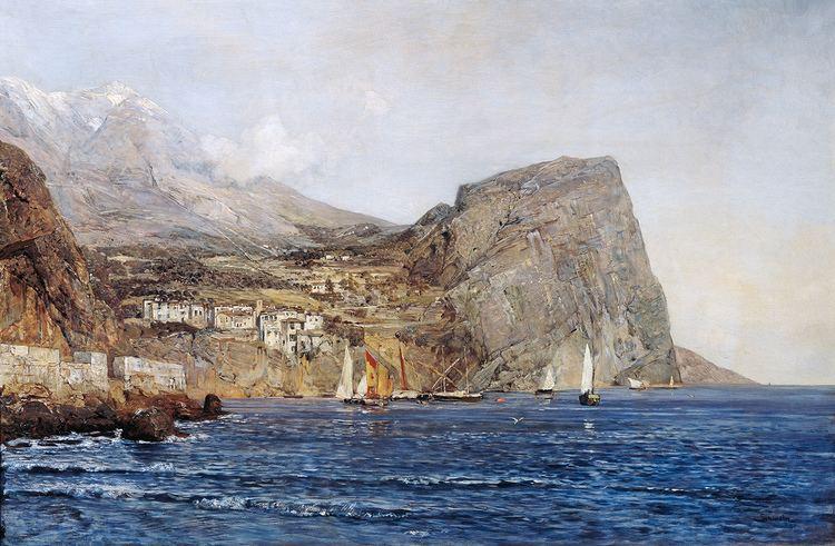Emil Jakob Schindler Dalmatian Coastline painting 1890 Valentino39s blog