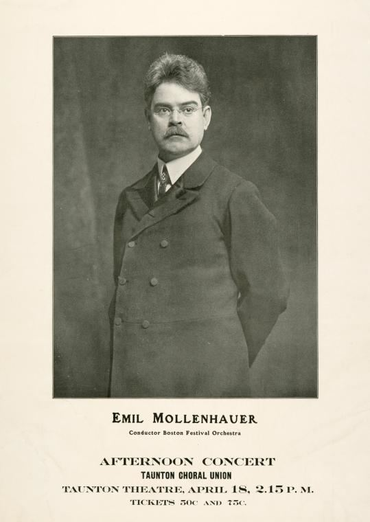 Emil Mollenhauer Emil Mollenhauer conductor Boston Festival Orchestra NYPL