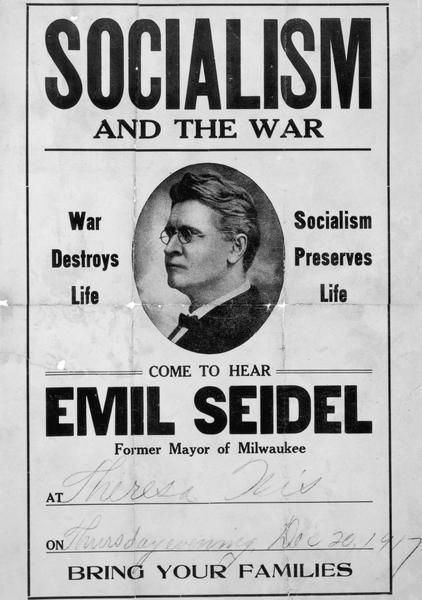 Emil Seidel Odd Wisconsin Patronage problem plagued Milwaukee mayor in 1910