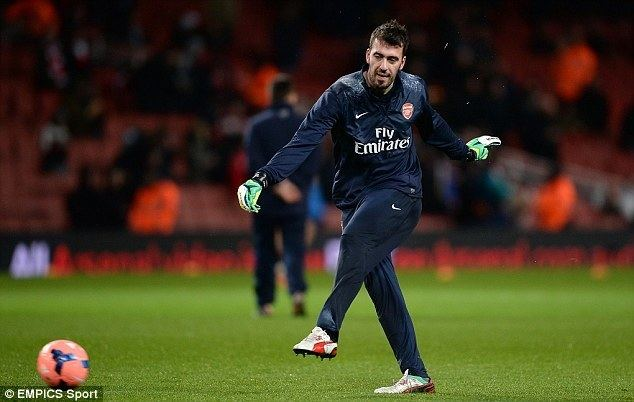 Emiliano Viviano AC Milan and Bologna track unsettled Arsenal keeper Viviano Daily