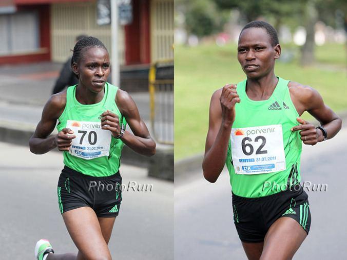 Emily Chebet Joyce Chepkirui of Kenya and Emily Chebet of Kenya