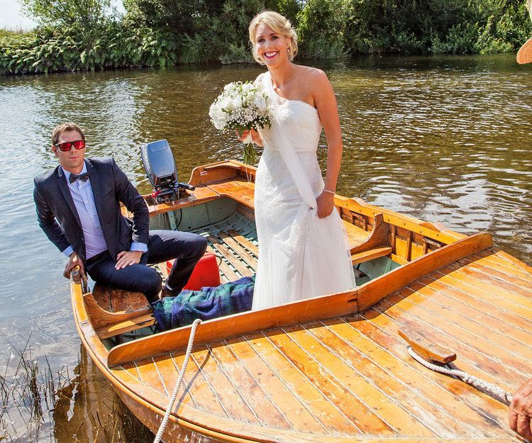 Emily Gaddum Emily Naylor39s dreamboat wedding Woman39s Day