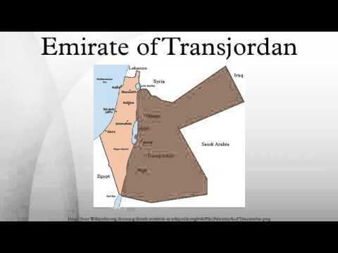 Emirate of Transjordan Emirate of Transjordan YouTube