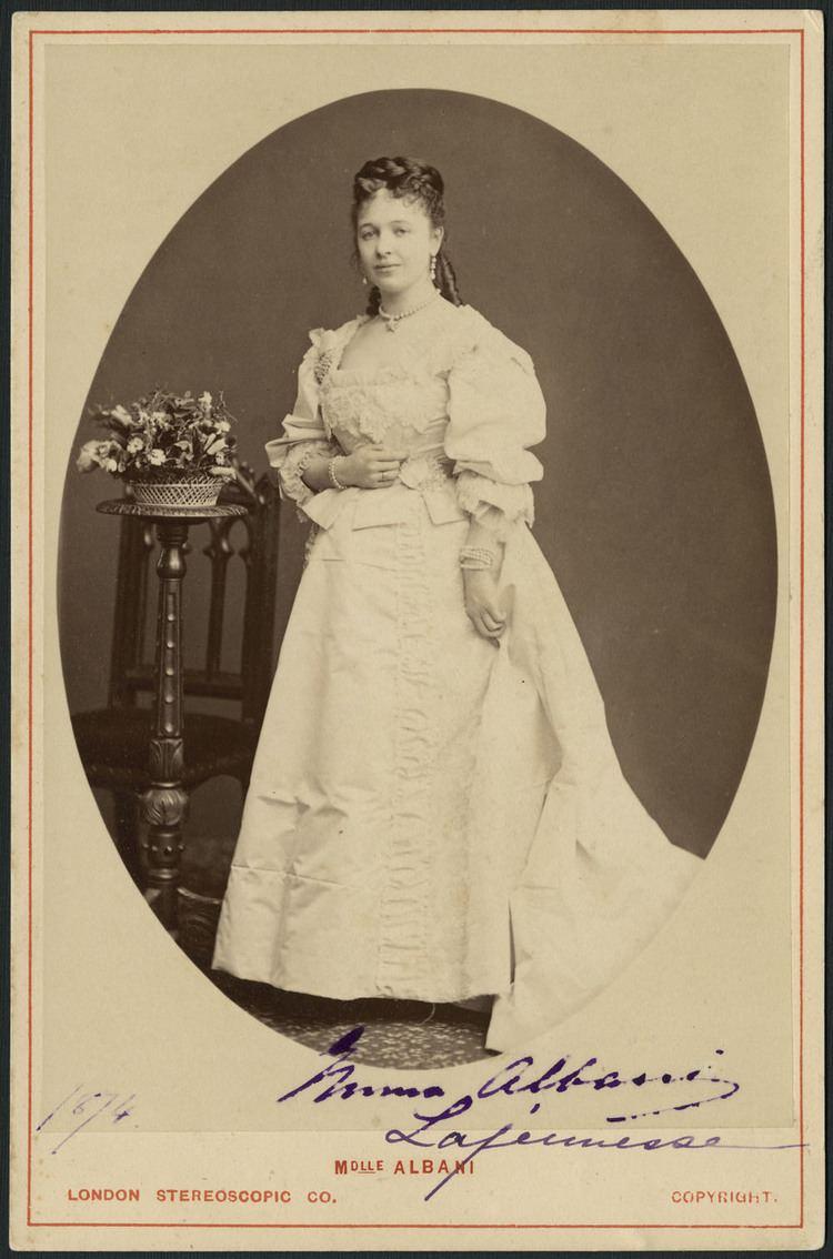 Emma Albani Biography LAJEUNESSE EMMA also called MarieLouise