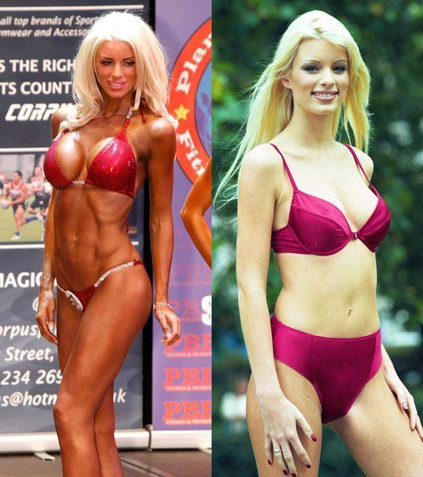 Emma B (model) Emma B reveals bodybuilding figure in half naked shoot and