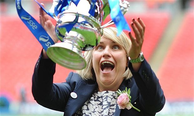 Emma Hayes Chelsea Ladies win women39s FA Cup final to complete Emma