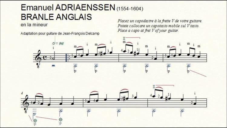 Emmanuel Adriaenssen Emmanuel Adriaenssen Branle Anglais YouTube