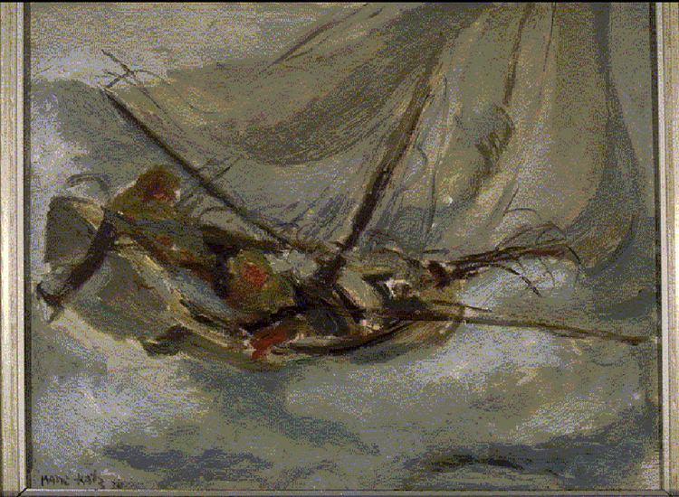 Emmanuel Mane-Katz ManKatz Stormy Seas 1934 NEN Gallery