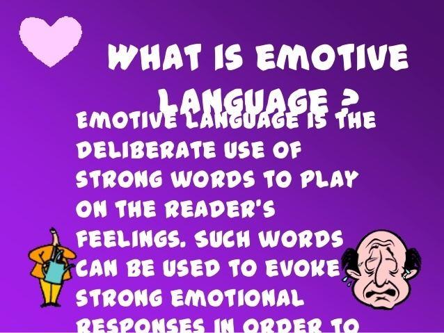 Emotive (sociology) httpsimageslidesharecdncomemotivelanguagee