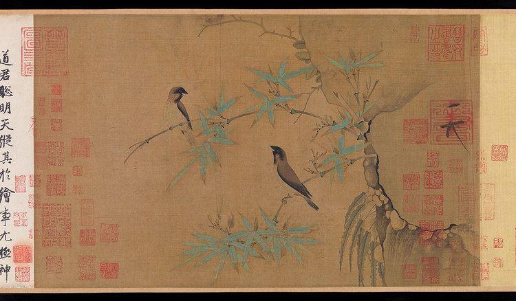 Emperor Huizong of Song Emperor Huizong Finches and Bamboo 1981278 Heilbrunn