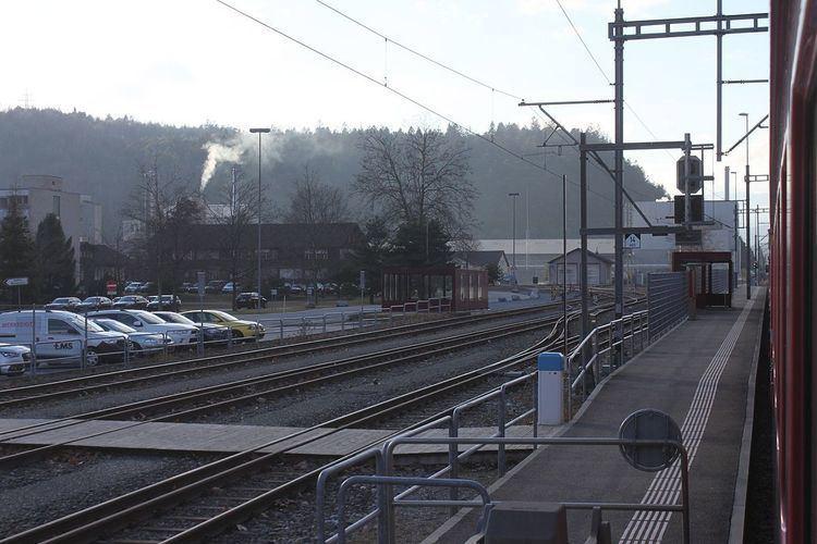 Ems Werk (Rhaetian Railway station)