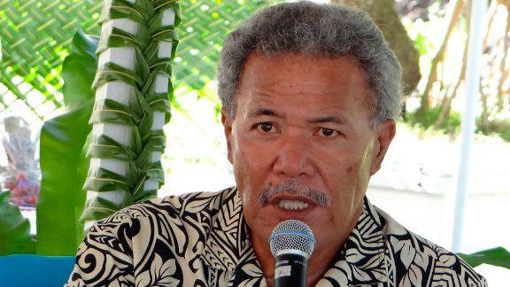 Enele Sopoaga Tuvalu PM says climate change 39like WMD39 in Pacific