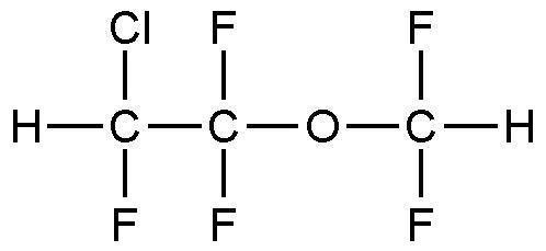 Enflurane Medicinal Chemical Structures Volatile Anesthetics Enflurane