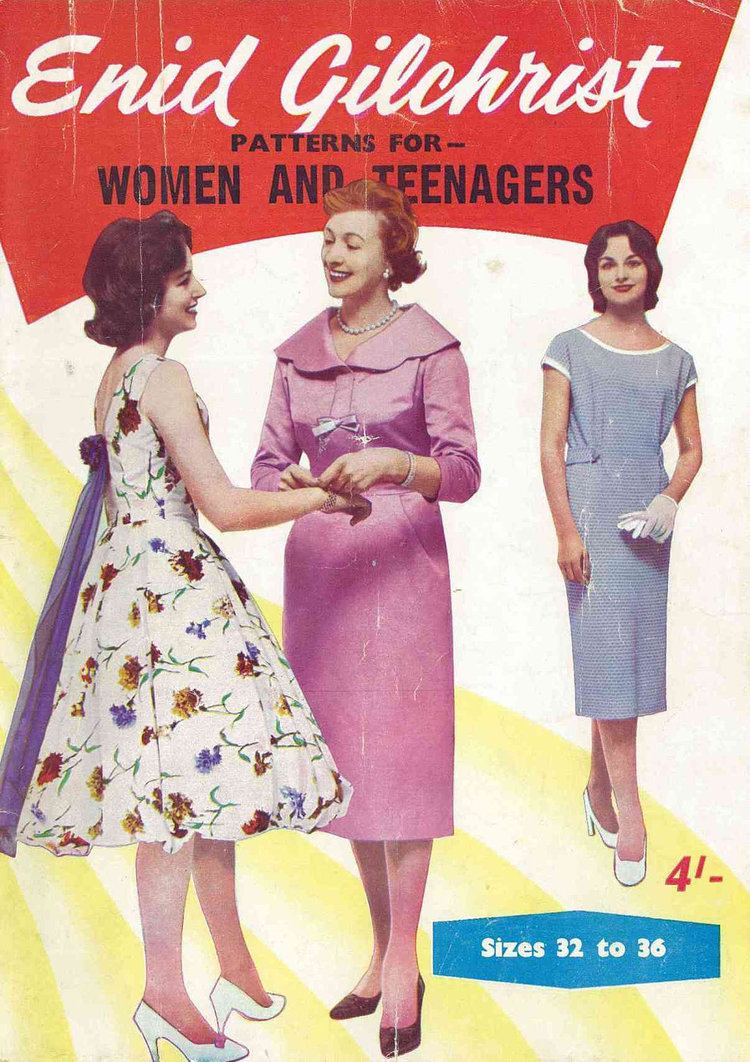 Enid Gilchrist 1950s Enid Gilchrist Patterns for Women and