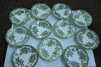 Enoch Wedgwood Five Enoch Wedgwood tunstall Ltd Asiatic Pheasants kent Saucers