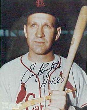 Enos Slaughter Enos Slaughter Autographed St Louis Cardinals MLB Baseball 8x10