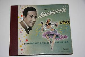 Enric Madriguera 4x 78rpm ENRIC MADRIGUERA Music of Latin America 10 Box Set