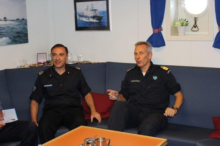 Enrico Credendino EU Naval Force and NATO Counter Piracy Commanders Meet At Sea