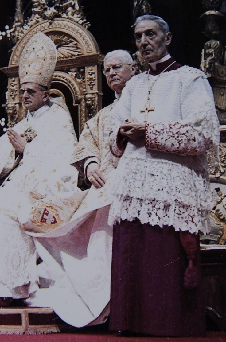 Enrico Dante Pope Paul VI and Cardinal Enrico Dante Sancta Romana
