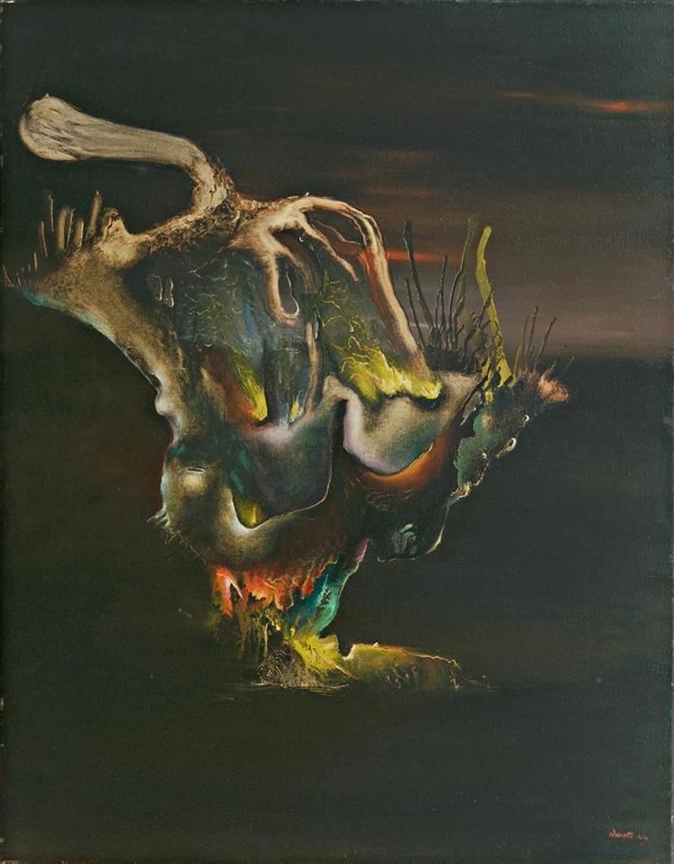 Enrico Donati THE SMOLDERING SCREEN surrealism St Elmo39s Fire by