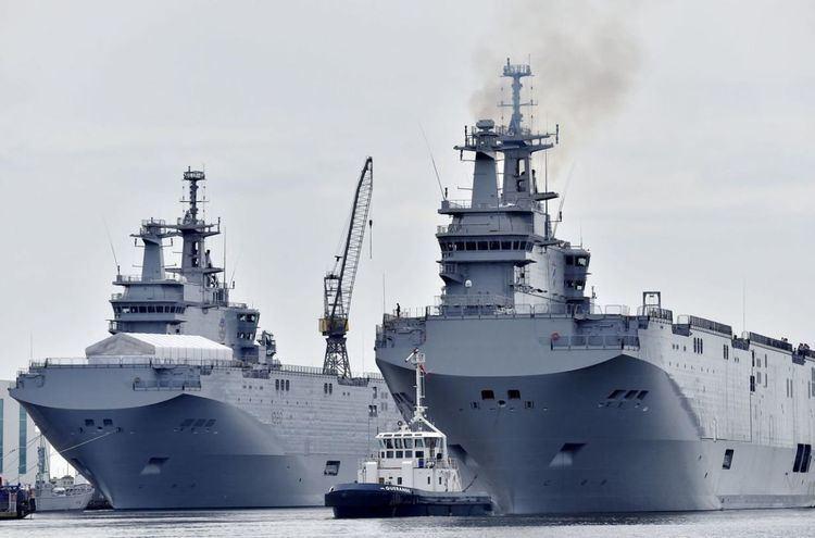 ENS Gamal Abdel Nasser Egyptian Navy Ship 39Gamal Abdel Nasser39 of Mistral class leaving