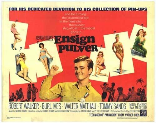 Ensign Pulver movie scenes  Warner Bros film released in 1964 and starring Walter Matthau Robert Walker Jr Burl Ives Larry Hagman and Jack Nicholson Ensign Pulver is a comedy