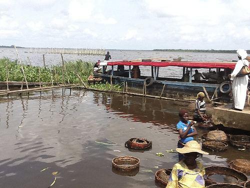 Epe, Lagos Fish retention pond Epe Seafood Market Epe Lagos Nigeria Juju