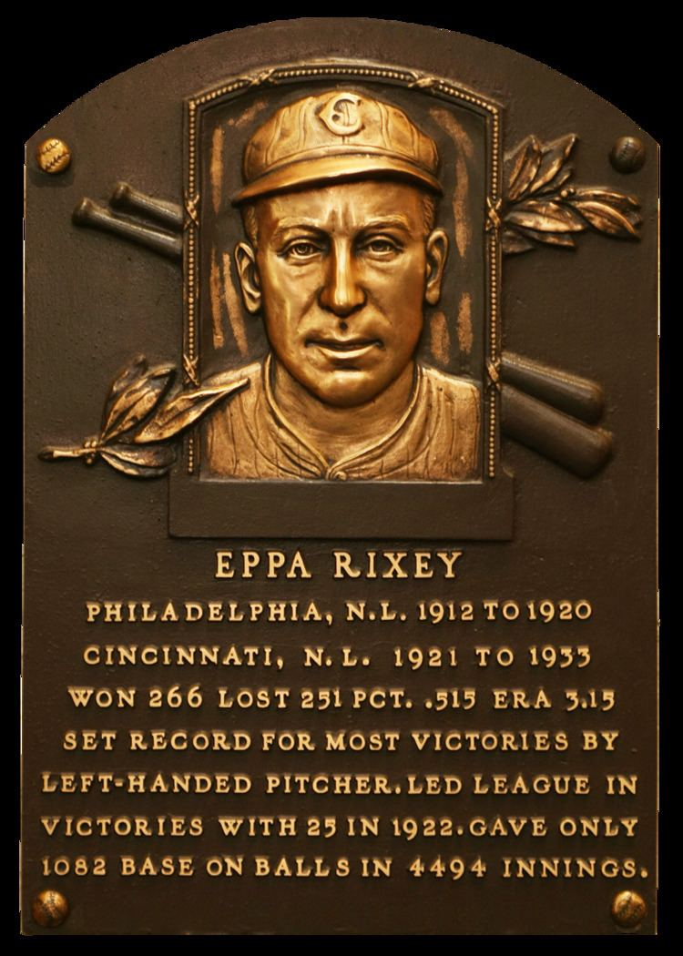 Eppa Rixey Rixey Eppa Baseball Hall of Fame