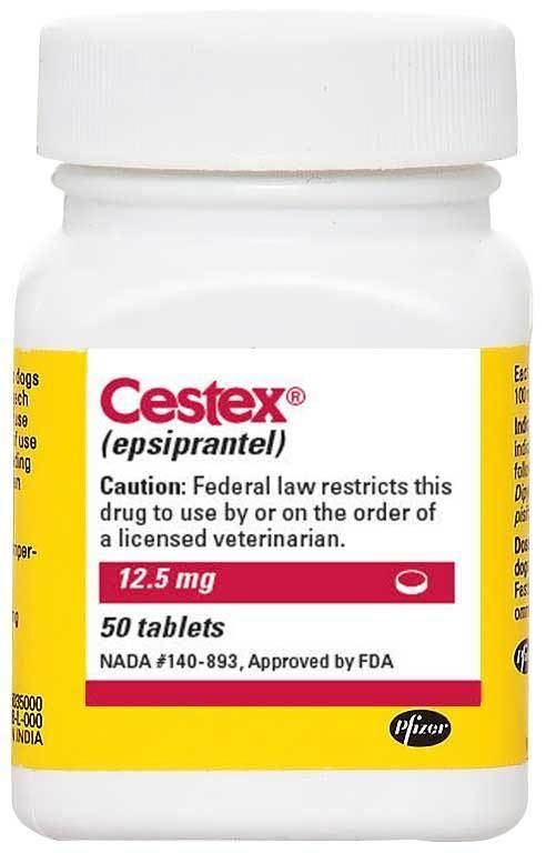 Epsiprantel Cestex Epsiprantel 125mg per tablet