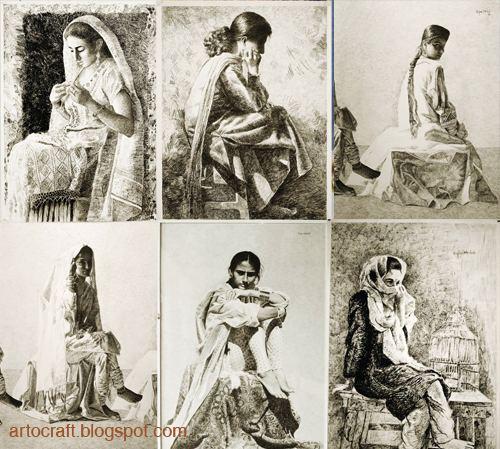 Eqbal Mehdi Artocraft Beautiful Drawings and Paintings of Eqbal Mehdi