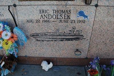 Eric Andolsek Eric Andolsek Thibodaux LA Grave of a Famous Person