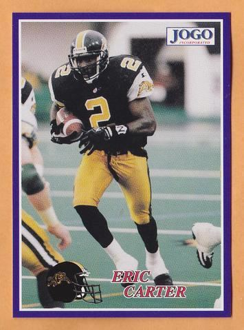 Eric Carter (Canadian football) Eric Carter CFL card 1995 Jogo 184 Hamilton TigerCats Knoxville