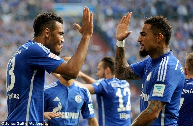 Eric Maxim Choupo-Moting Schalke 21 Borussia Dortmund Early goals from Joel Matip