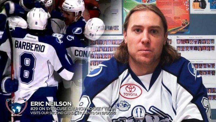 Eric Neilson Syracuse Crunch Hockey Team 29 Eric Neilson visits second