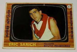 Eric Sarich VINTAGE 1967 SCANLENS VFL AFL FOOTBALL CARD No 17 ERIC SARICH eBay