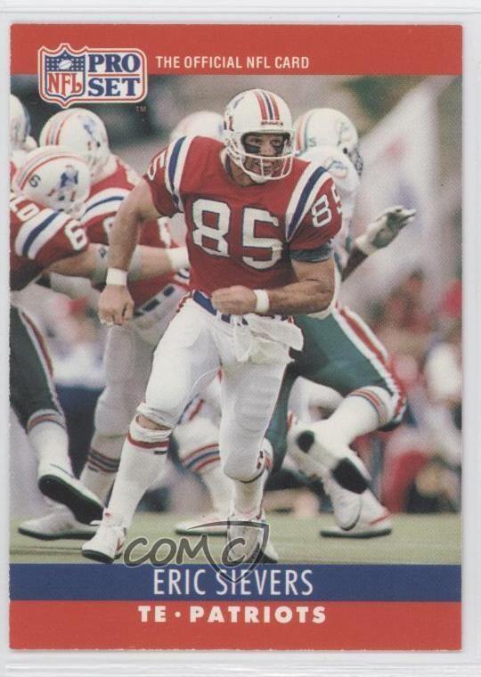 Eric Sievers 1990 Pro Set 206 Eric Sievers New England Patriots RC Rookie
