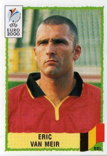 Eric Van Meir BELGIUM Eric Van Meir 100 EURO 2000 Panini Football Sticker
