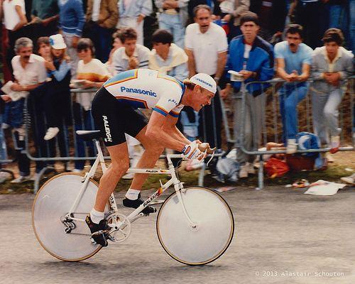 Eric Vanderaerden Eric Vanderaerden 1985 Tour de France Prologue Plumelec