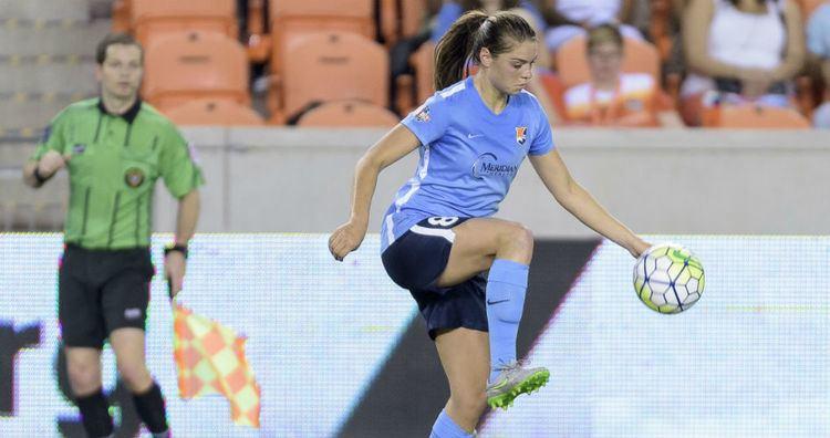 Erica Skroski Sky Blue FC rookies Erica Skroski and Erin Simon take advantage of