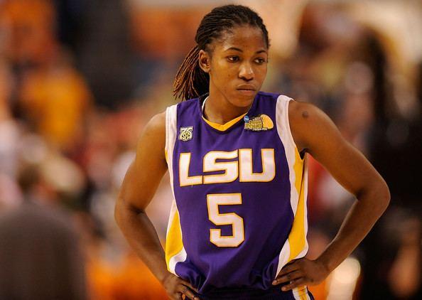 Erica White Erica White in NCAA Basketball Tournament Womens Final Four LSU