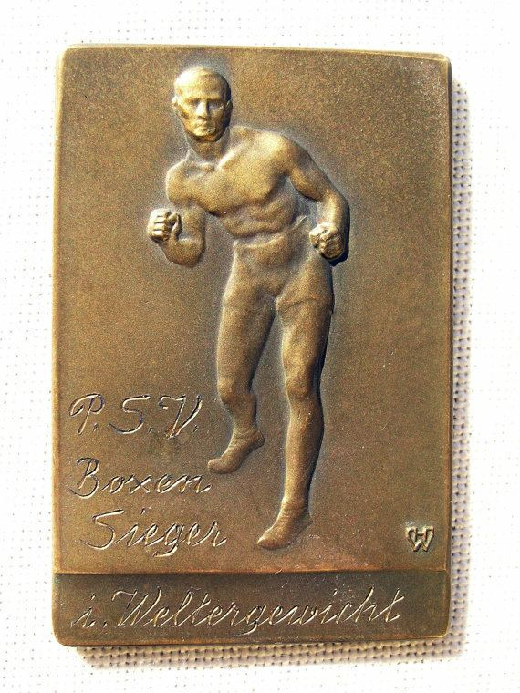Erich Campe Vintage Boxing Medal Erich Campe Police Boxing Club Berlin