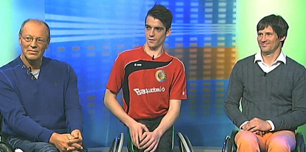 Erich Hubel Ganz cool im Fernsehen Erich Hubel Kim Robins und Arne Wettig