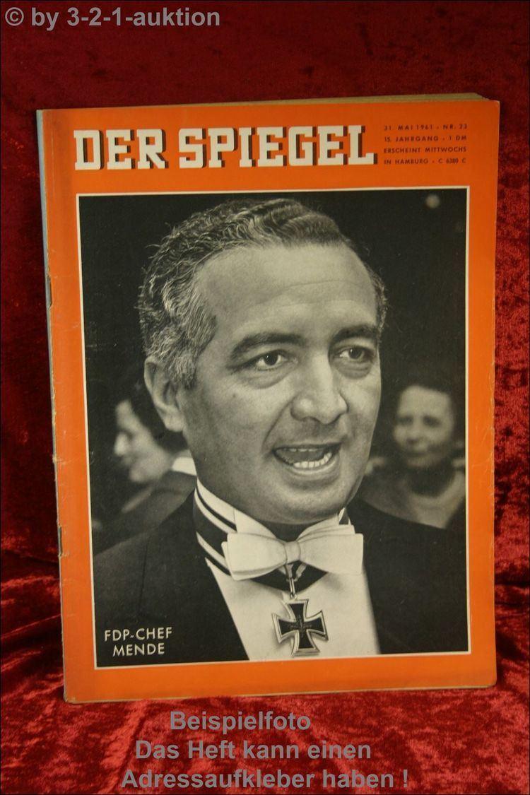 Erich Mende Spiegel 2361 3151961 FDPChef Erich Mende