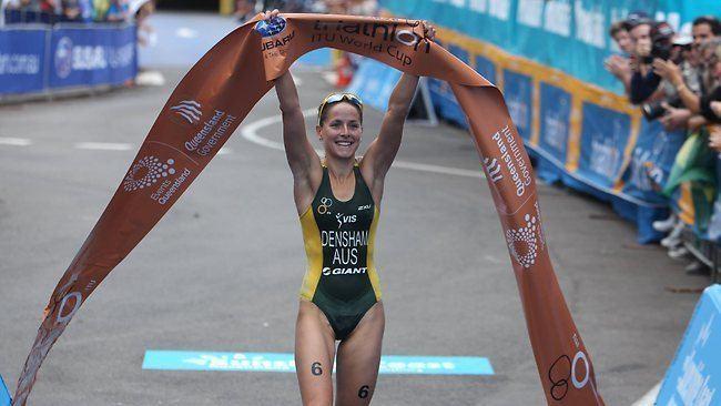 Erin Densham Erin Densham claims ITU Triathlon World Cup in Mooloolaba