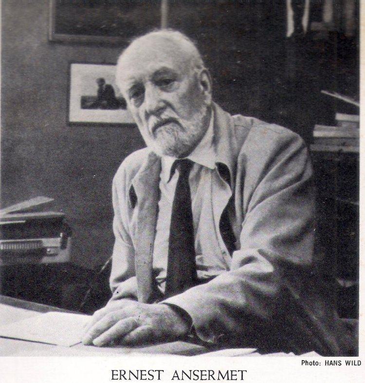 Ernest Ansermet Ernest Ansermet Conductor Short Biography