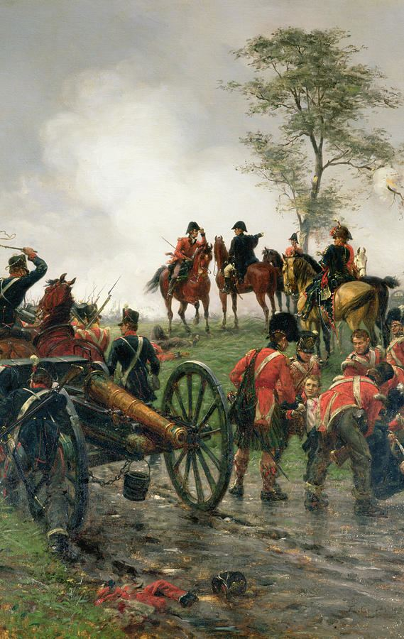 Ernest Crofts Wellington At Waterloo by Ernest Crofts