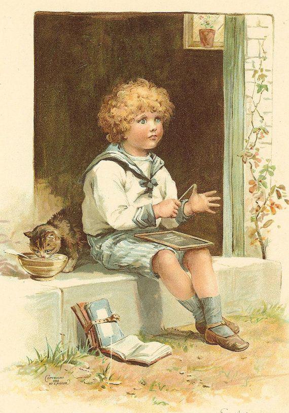 Ernest Nister 1000 images about Ernest Nister 18421909 on Pinterest Tabby
