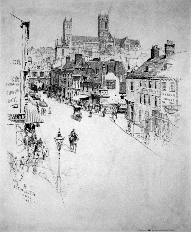 Ernest Peixotto FileErnest Peixotto High Street Lincoln 1899jpg Wikimedia Commons