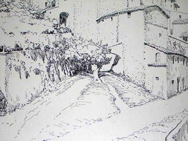 Ernest Peixotto George Glazer Gallery Antique Prints Peixotto view of San Gimignano