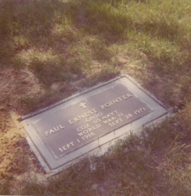 Ernest Pointer Paul Ernest Pointer 1916 1971 Find A Grave Memorial